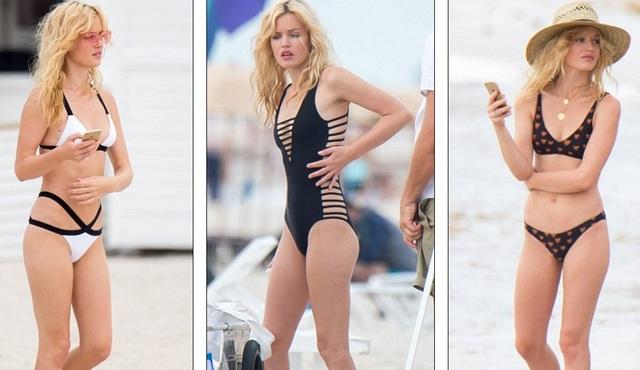 Georgia May Jagger bận rộn trong buổi chụp hình quảng cáo áo tắm trên bãi biển Miami ngày 19/7 vừa qua