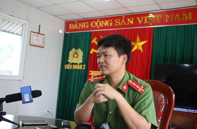 Đại úy Đỗ Đình Viên, Tiểu đoàn trưởng Tiểu đoàn 2 (thuộc Bộ tư lệnh Cảnh sát cơ động - K20) trả lời phỏng vấn về nghi vấn điểm cao bất thường của các chiến sĩ CSCĐ ở đơn vị.
