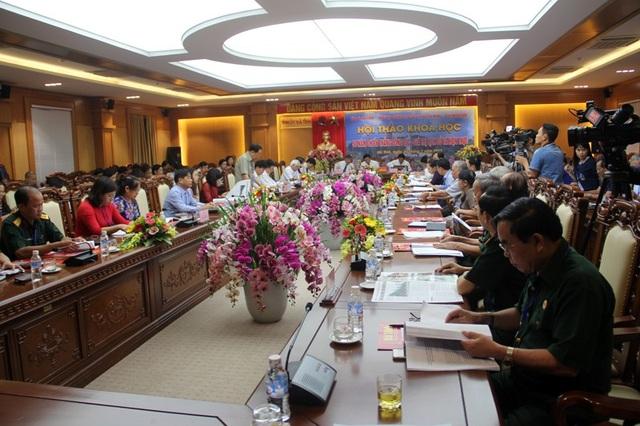 Toàn cảnh Hội thảo khoa học: 50 năm Chiến thắng Đồng Lộc - Giá trị lịch sử và hiện thực được tổ chức tại Tỉnh ủy Hà Tĩnh sáng nay, 20/7.