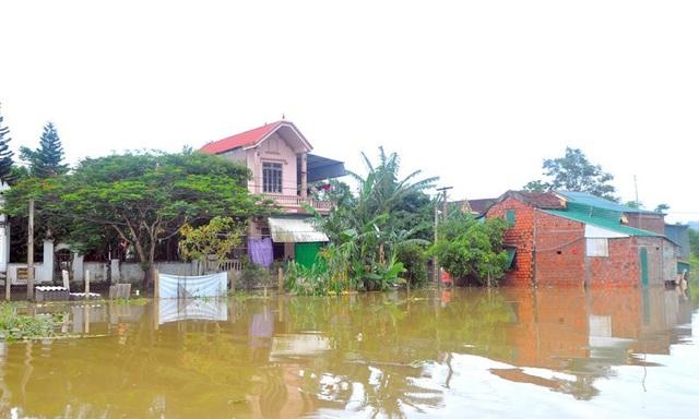 Xã Sơn Tiến (huyện Hương Sơn, Hà Tĩnh) là xã có địa hình thấp trũng, như một rốn lũ của cả huyện Hương Sơn. Do ảnh hưởng của mưa bão số 3, nước từ khắp nơi đổ về khiến toàn xã bị trong biển nước.