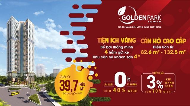 """Golden Park Tower tung chính sách mới tạo """"sóng"""" trên thị trường BĐS"""