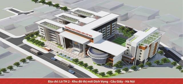 Trường THPT MIS tại khu đô thị Dịch Vọng (Cầu Giấy, Hà Nội).