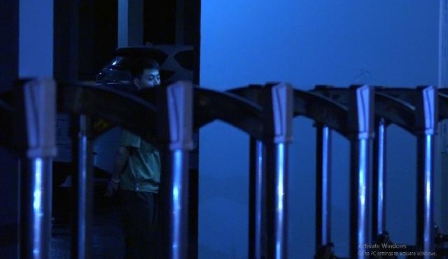Lực lượng an ninh có mặt khắp nơi trong Sở GD&ĐT Sơn La để hỗ trợ công tác rà soát chấm thi.