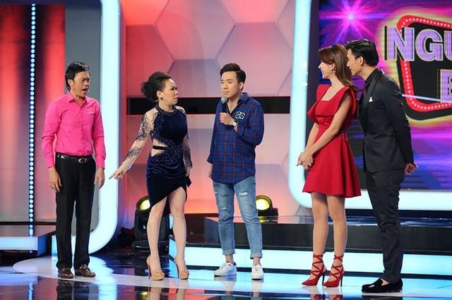 Việt Hương đã nổi cơn ghen khi ông xã Sáu Bảnh si mê nữ diễn viên xinh đẹp.