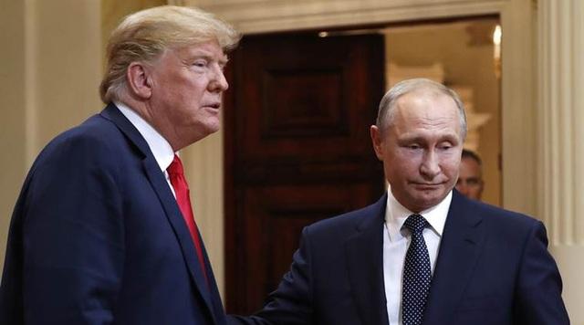 Tổng thống Trump và Tổng thống Putin trong cuộc gặp tại Helsinki (Ảnh: AFP)
