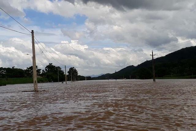 Hiện mực nước sông trên địa bàn huyện Thạch Thành vẫn đang dâng nhanh. Chính quyền địa phương đang cắt cử lực lượng chức năng túc trực 24/24h ở những địa bàn trọng yếu dọc đê sông Bưởi đề phòng tình huống bất ngờ xảy ra.