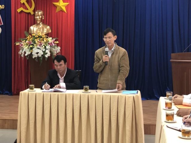 Ông Phạm Sỹ Bỉnh, Phó chủ tịch Hội đồng chấm thẩm định, Phó vụ trưởng GDTX công bố kết quả buổi chấm thẩm định