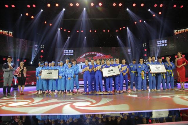 3 giải Ba đã thuộc về nhóm Vovinam 1978, nhóm Vovinam 1938 và Đội Võ Nhạc Taekwondo Việt Nam, mỗi nhóm nhận được giải thưởng trị giá 50 triệu đồng.