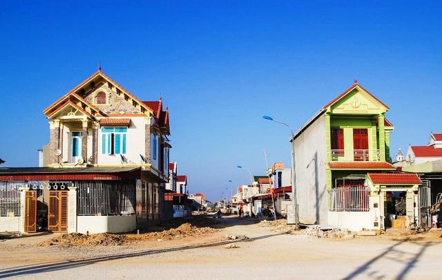 Khu dân cư mới xã Hải Yến, huyện Tĩnh Gia (Thanh Hóa) – nơi hàng nghìn hộ dân chuyển đến sinh sống để nhường đất cho Lọc hóa dầu Nghi Sơn.