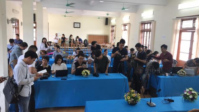 Buổi công bố kết quả thẩm định thi THPT quốc gia 2018 tại Sơn La vẫn diễn ra.
