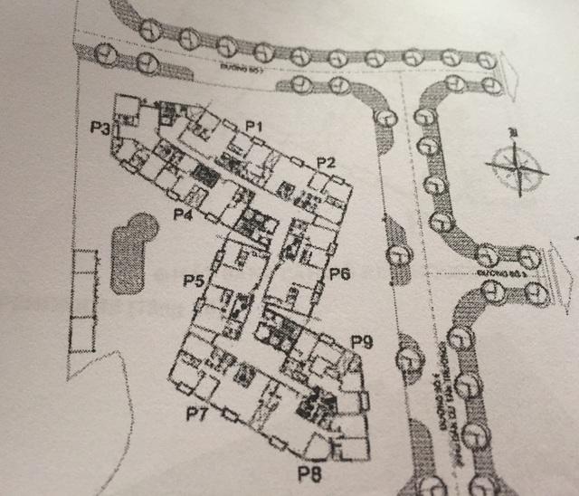 Trên bản đồ vị trí đăng trên website của công ty Savimex thì căn Penthouse P6 có hướng nhìn xuống đường số 2 khu dân cư Tân Trường nhưng ông Chiến lại được giao căn P5 có hướng nhìn xuống đường số 4.