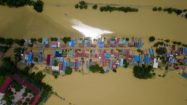 Tình trạng ngập ở Bùi Xá diễn ra hàng năm vào các mùa nước lên.