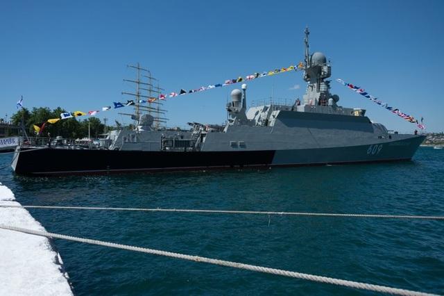 Tàu hộ vệ Vyshny Volochyok (Ảnh: Sputnik)