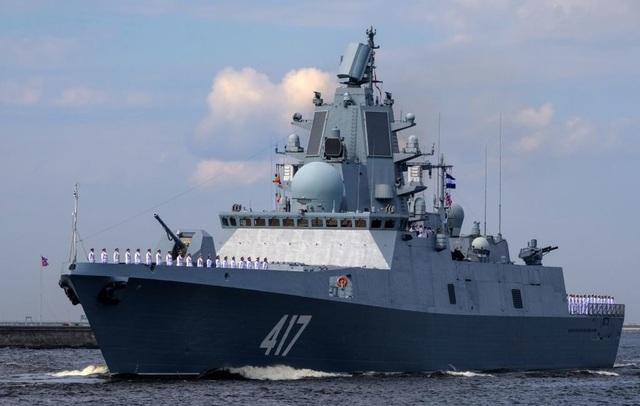 Tàu Đô đốc Gorshkov (Ảnh: Sputnik)
