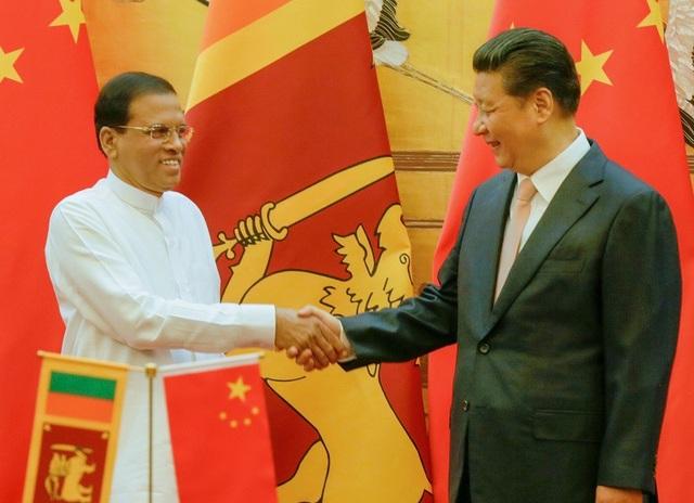 Tổng thống Maithripala Sirisena và Chủ tịch Tập Cận Bình (Ảnh: Asian Tribune)