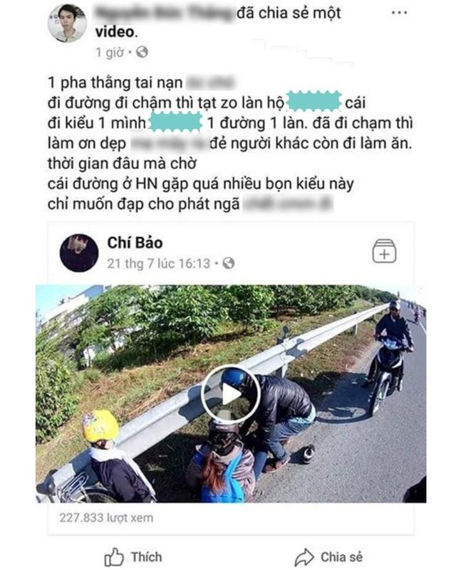 Bị quệt đổ xe, cả gia đình ngã sấp trên đường quốc lộ - 1