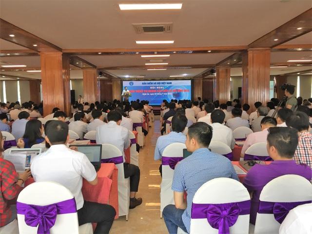 Các đại biểu tham gia hội nghị An toàn thông tin ngành BHXH.