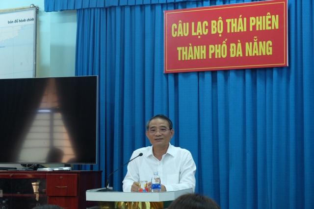 Bí thư Thành uỷ Đà Nẵng Trương Quang Nghĩa thông tin vụ Vũ nhôm tại buổi gặp mặt CLB Thái Phiên