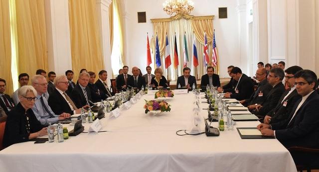Cuộc họp của đại diện nhóm P5+1 và Iran tại Áo năm 2015 (Ảnh: AFP)