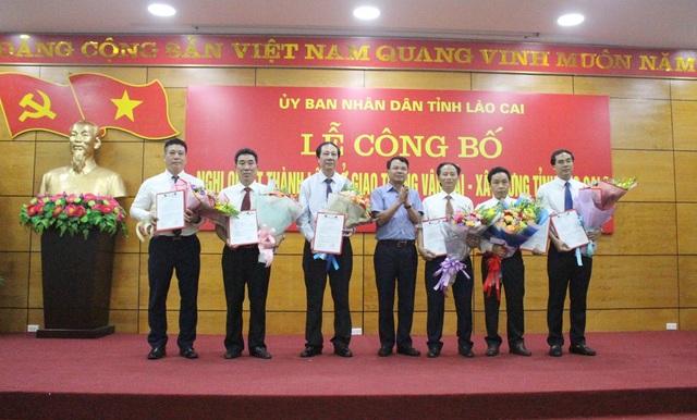 Lễ công bố quyết định thành lập Sở Giao thông vận tải - Xây dựng tỉnh Lào Cai.