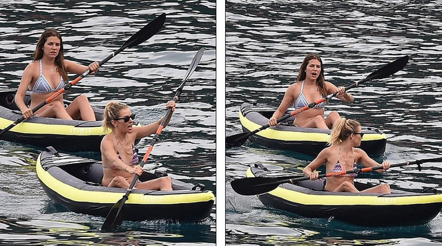 Sienna Miller thư giãn chèo thuyền trên biển yên bình