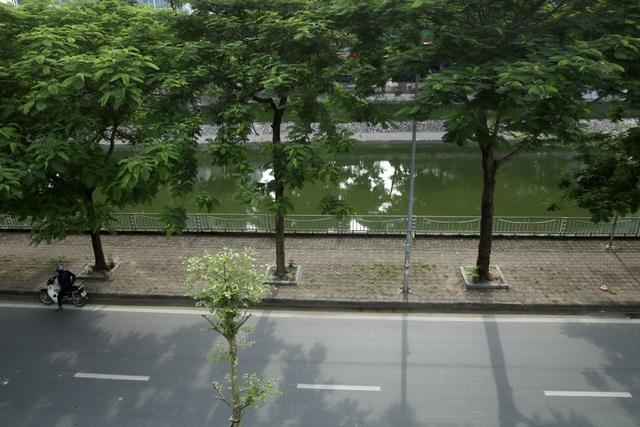 Màu xanh của sông Tô Lịch hiện tại được nhận định là do tác động của đợt mưa kéo dài vừa qua, nước tràn về tạm thời đẩy lui nước đen ô nhiễm thường ngày.