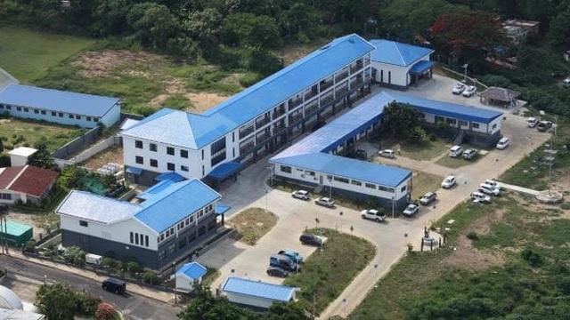 Một công trình ở quốc đảo Vanuatu xây bằng tiền đầu tư của Trung Quốc. (Ảnh minh họa: The Australian)