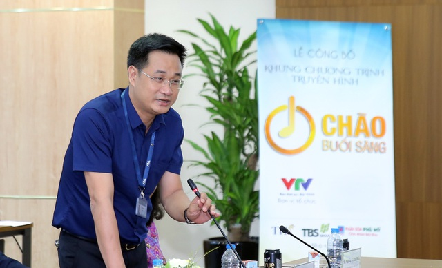 Ông Lê Ngọc Quang Trưởng ban thời sự Đài truyền hình Việt Nam phát biểu