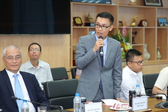 Ông Vũ Quang Hưng Giám đốc công ty Cổ phần đầu tư Thái Bình TBS Group phát biểu