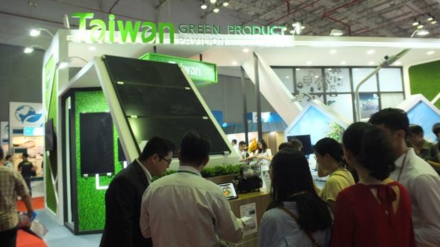 Sản phẩm được trưng bày tại gian hàng sản phẩm xanh Đài Loan, Trung tâm Hội nghị Triển lãm SECC (quận 7, TP.HCM) 26-28/7.