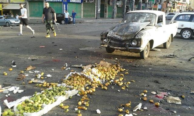 Các vụ đánh bom liều chết của IS diễn ra ở thành phố Suweida. (Ảnh: Reuters)