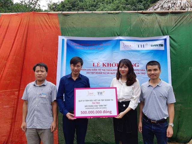 Công trình cầu Dân trí thứ 15 có tổng mức đầu tư 500 triệu đồng do Quỹ Vì Tầm Vóc Việt tài trợ