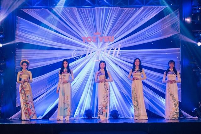 Top 5 trong đêm chung kết cuộc thi Gương mặt Nữ sinh Áo dài 2018
