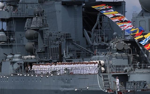 Theo truyền thống, Ngày Hải quân Nga thường được tổ chức vào ngày Chủ nhật cuối cùng của tháng 7 hàng năm. (Ảnh: TASS)