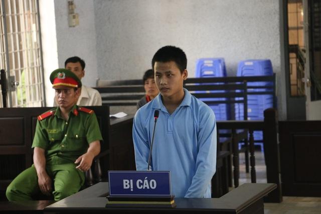 Bị cáo Bình tại phiên tòa