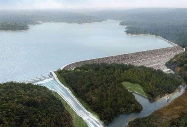 Phối cảnh một trong những đập chính của dự án đập Xe Pian Xe Namnoy tại Lào (Ảnh: PNPC)
