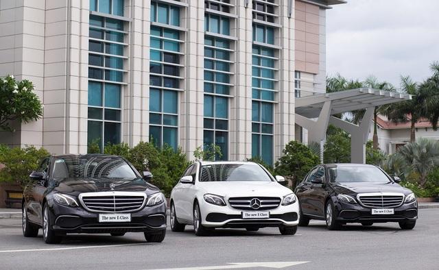Mercedes-Benz E-Class thế hệ mới với thiết kế sang trọng, hiện đại.