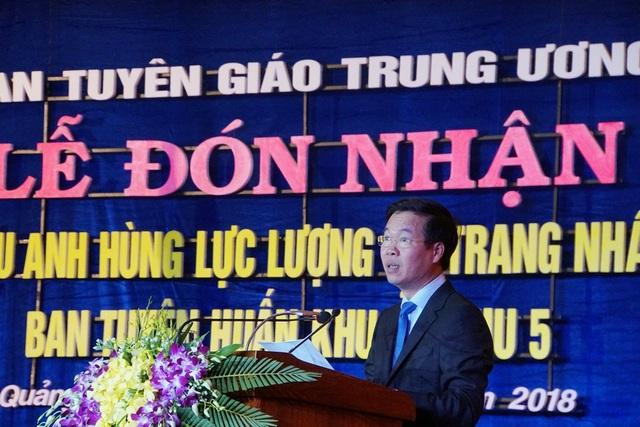 Trưởng Ban tuyên giáo Trung ương Võ Văn Thưởng phát biểu tại buổi lễ