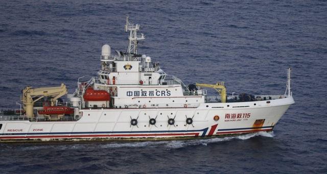 Tàu Nan Hai Jiu của Trung Quốc hoạt động tại Ấn Độ Dương (Ảnh: Reuters)