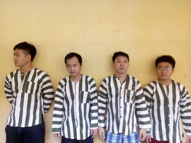Các đối tượng tổ chức cá độ bóng đá bị bắt giam