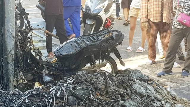 Hiện trường vụ cháy (ảnh: Lê Huy Hoàng Hải)