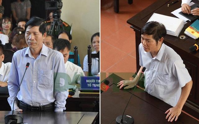 Ông Hoàng Đình Khiếu (trái) và ông Trần Văn Thắng.