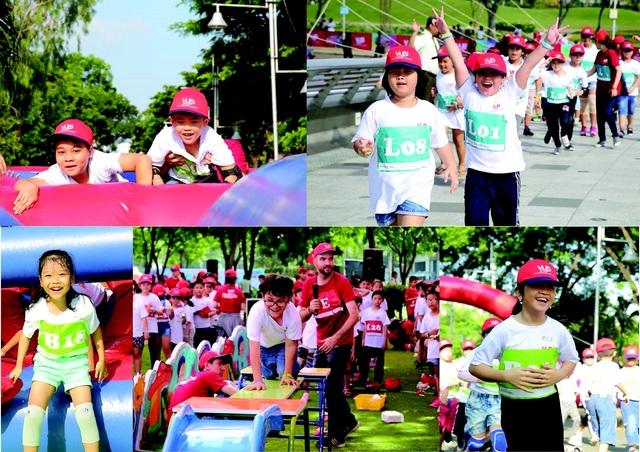 Tham gia đường chạy, trẻ sẽ phải chinh phục 4 trạm thử thách và đoạn đường dài 1,5 km. Với tinh thần hào hứng, các em nhỏ luôn tham gia hết mình với nụ cười trên môi.