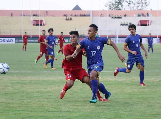 U19 Việt Nam áp đảo hoàn toàn về thế trận