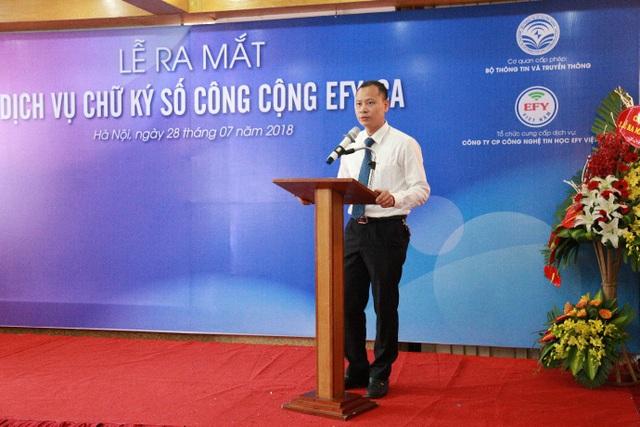 EFY Việt Nam chính thức ra mắt Dịch vụ chữ ký số công cộng EFY-CA