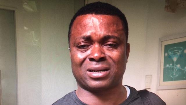 Ông Chukwu Christan (người Nigeria) khóc ngất vì nguy cơ mất trắng 24.000 USD đầu tư vào Sky Mining
