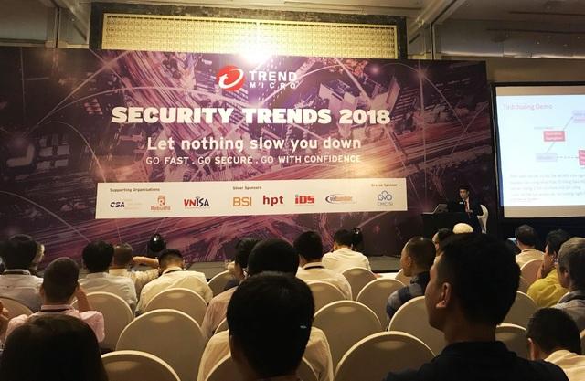 Buổi hội thảo có chủ đề Thực hiện chiến lược an ninh mạng hiệu quả tại các doanh nghiệp Việt Nam - Đừng để bất kỳ điều gì làm quý vị chậm lại do Trend Micro tổ chức nhằm cảnh báo các doanh nghiệp Việt trước những cuộc tấn công có chủ đích, đồng thời mang đến nhiều giải pháp, công cụ phòng thủ hữu hiệu.