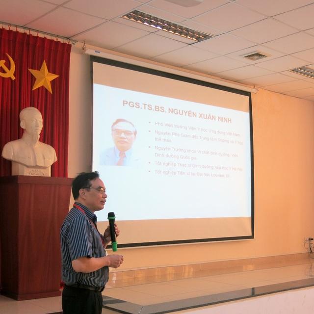 PGS tiến sĩ Nguyễn Xuân Ninh, phó viện trưởng Viện y học ứng dụng viện y học Việt Nam