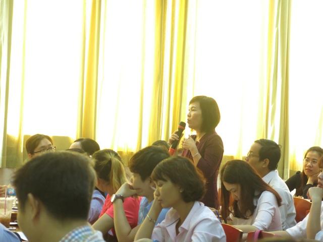 Bác sĩ Trần Thị Minh Nguyệt, chuyên gia dinh dưỡng học viện JMG chia sẻ tại Hội nghị