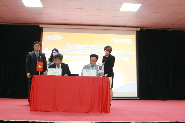 ĐH Chosun - Hàn Quốc ký kết trao đổi giảng viên, tài liệu học tập với trường ĐH Thành Đô